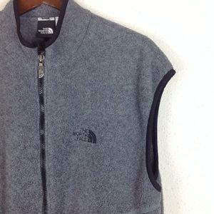 The North Face Grey Full Zip Fleece Vest Jacket